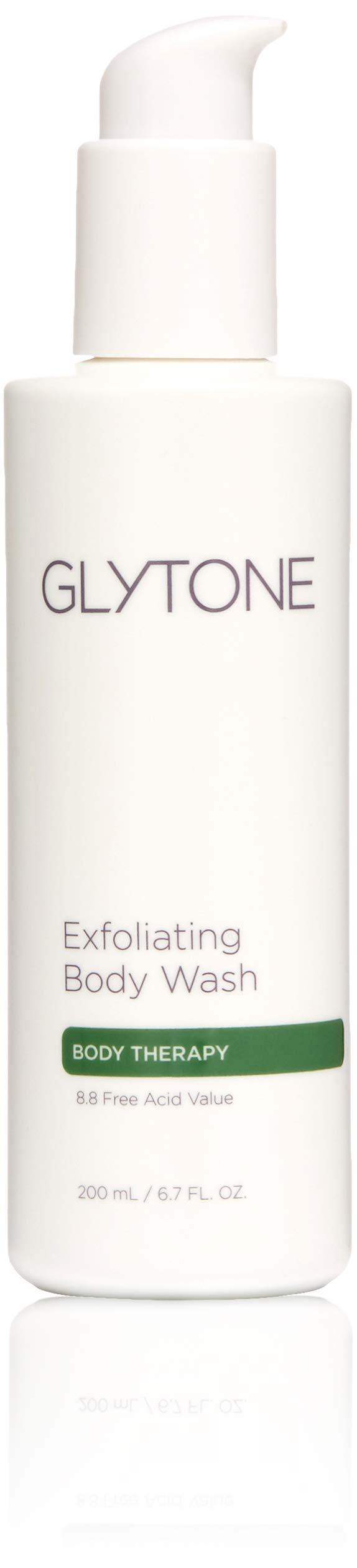 Glytone Exfoliating Body Wash with Glycolic Acid, Keratosis Pilaris, KP, Smooth Rough & Bumpy Skin, Chicken Skin, Oil-Free, Fragrance-Free 6.7 oz. by GLYTONE