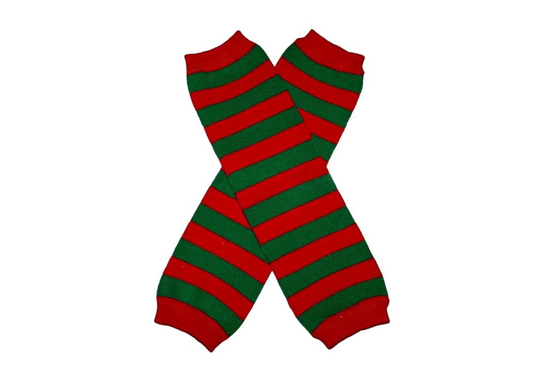 Amazon.com: RED & GREEN STRIPES (CHRISTMAS) - Baby Leggings Leg ...