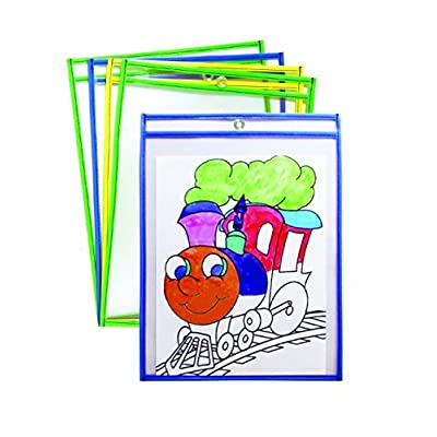 Mind Sparks Bright Hues Dry Erase Pockets (25 Piece), 9 x 12: Toys & Games