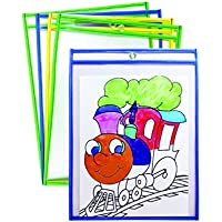 Mind Sparks Bright Hues Dry Erase Pockets (25 Piece), 9 x 12