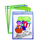 Mind Sparks Bright Hues Dry Erase Pockets (25 Piece), 9 x 12''