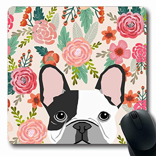 French Bulldog Mouse Pad - Ahawoso Mousepads Beautyzan French Bulldog Pet Portrait Cute Frenchie Puppy Oblong Shape 7.9 x 9.5 Inches Oblong Gaming Mouse Pad Non-Slip Rubber Mat
