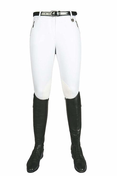 Pantalones de equitación - polo de rayas -, parte trasera de la ...