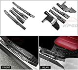 8 PCS Fit for Mitsubishi Outlander 2013-2017 Stainless Steel Innner External Door Sills Scuff Plate Guard Sills Protector Trim - Black