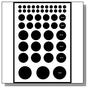 Circle-1 label sticker, multi-shape & size (see image), pastel color paper, A4 (8.27