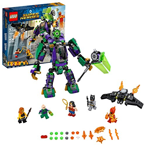 LEGO DC Super Heroes Lex Luthor Mech Takedown 76097 Building Kit (406 Piece) (League Lego Justice Sets Dc)