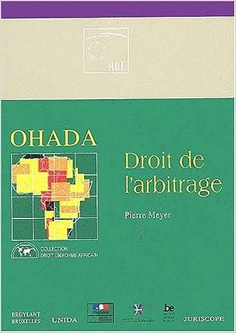 LARBITRAGE EN DROIT OHADA PDF DOWNLOAD