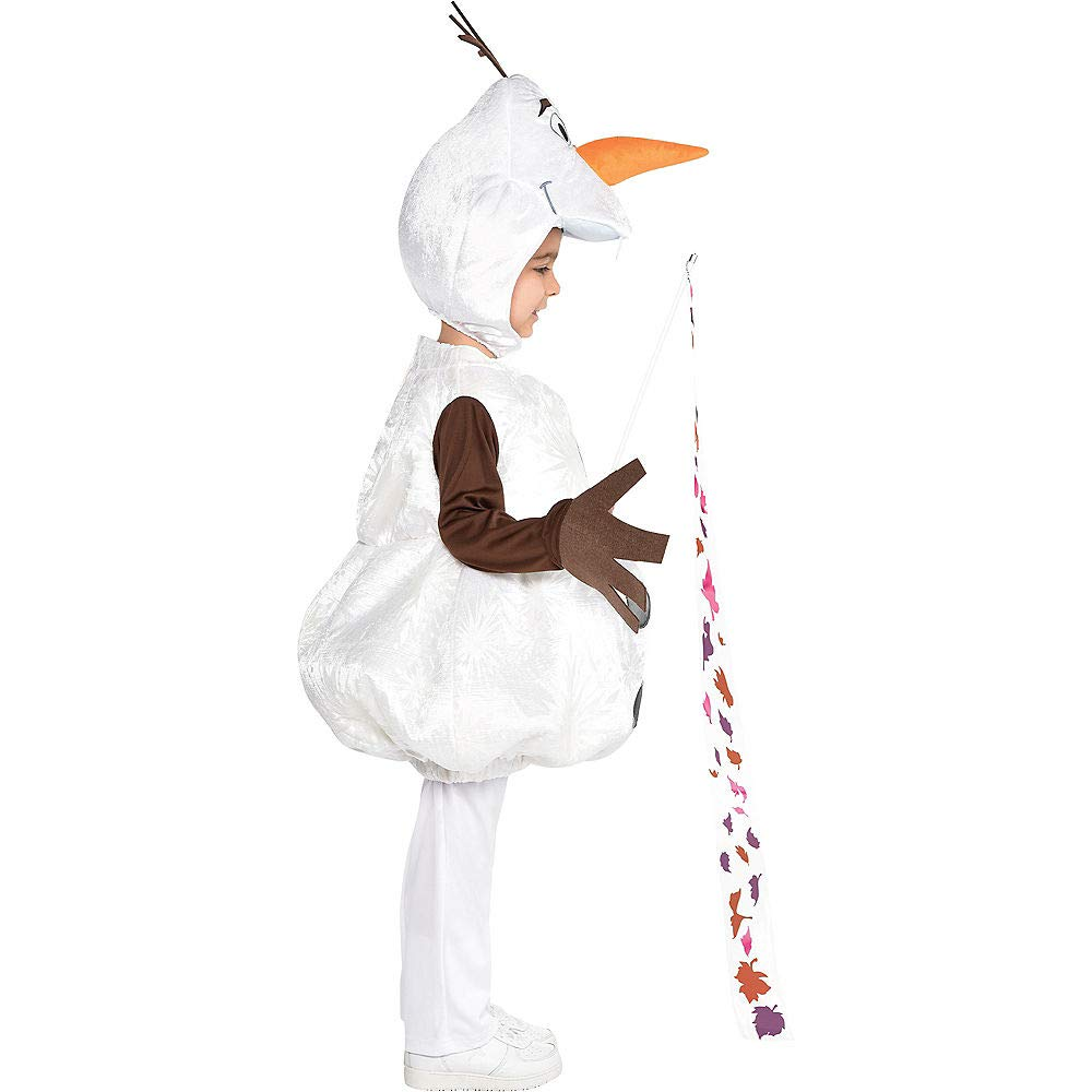 Frozen 2 Party City Olaf Halloween Costume for Boys Includes Headpiece and Wand