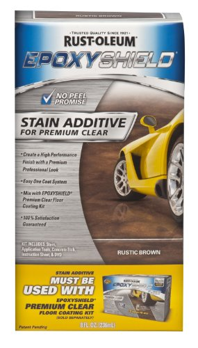 Rust-Oleum Corporation 264001 Stain Additive for Premium Clear Kit, Rustic Brown (Stain Kit Concrete)