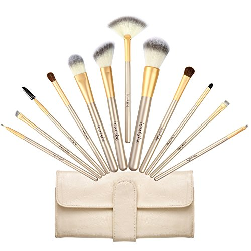 12pcs Makeup Brush Set+ Sponge (Pink+Rose Gold) - 3