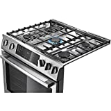 "Bosch HDI8054U 800 30"" Stainless Steel Dual Fuel (Gas) Slide-In Sealed Burner Range - Convection"