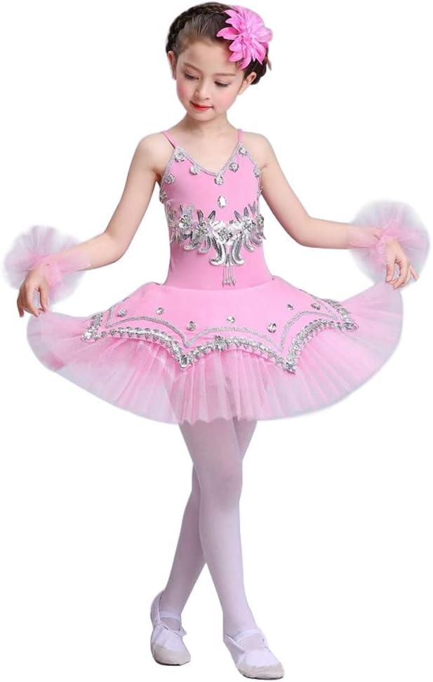 Yudesun Ragazze Danza Paillettes Ballerina Costumi Balletto Body Principessa Sport Costumi tut/ù Abito Ginnastica Spettacolo Gonna