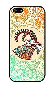 iZERCASE iPhone 5, iPhone 5S Case Zodiac Signs Capricorn RUBBER CASE - Fits iPhone 5, iPhone 5S T-Mobile, Verizon, AT&T, Sprint and International (Capricorn)