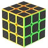 Cuberspeed Phantom Carbon fiber sticker Magic cube 3x3 Stickerless with black sticker Speed cube