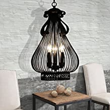 WYMBS Creative furniture decoration pendant light Wrought-iron birdcage chandelier