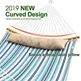 Ohuhu Double Hammock Quilted Fabric Swing with