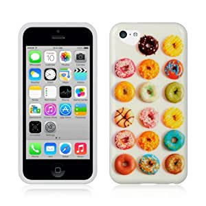 APPLE IPHONE 5C COLORFUL ASSORTED DONUT TPU RUBBER COVER HARD GEL CASE + FREE SCREEN PROTECTOR from [ACCESSORY ARENA]