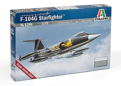 Amazon.com: Italeri 1: 72 F-104 G Starfighter – Maqueta ...