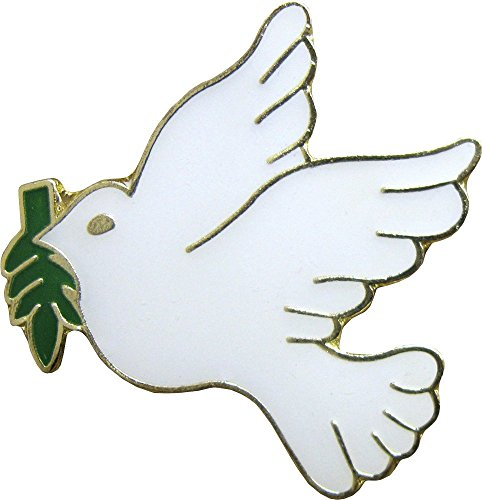 Peace Dove with Olive Branch Enamel Pin