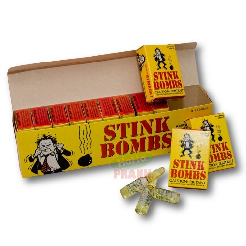 36 Stink bombs-3 Glass vials Per box-Stinky and Smelly