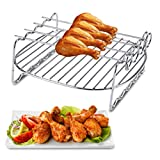 Fansport Air Fryer Rack 5.3QT-5.8QT Air Fryer Accessories Grill Rack with 4 Skewers