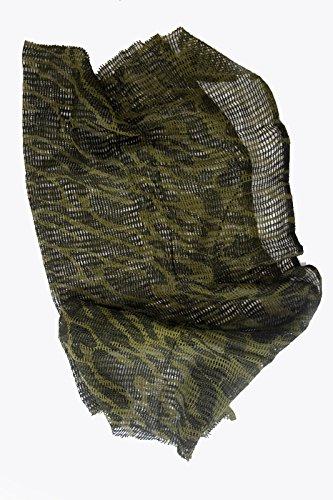 Camuflaje cañamazo neta 100cm x 198cm, redes bufanda militar del Ejército. de gasa wildlifephotographshop
