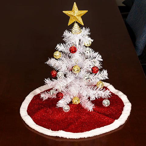 Christmas Holiday White PVC Table-Top Christmas Trees, 18 in. - Christmas Tree Costume Walmart