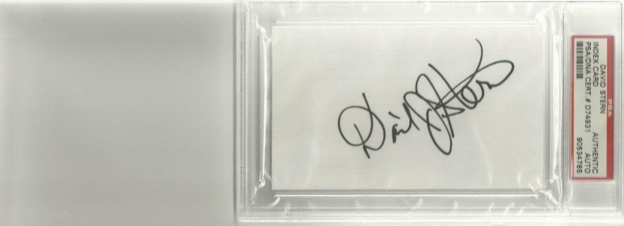 David Stern Signed Index Card Encapsulated - PSA/DNA Certified - NBA Cut Signatures by Sports Memorabilia