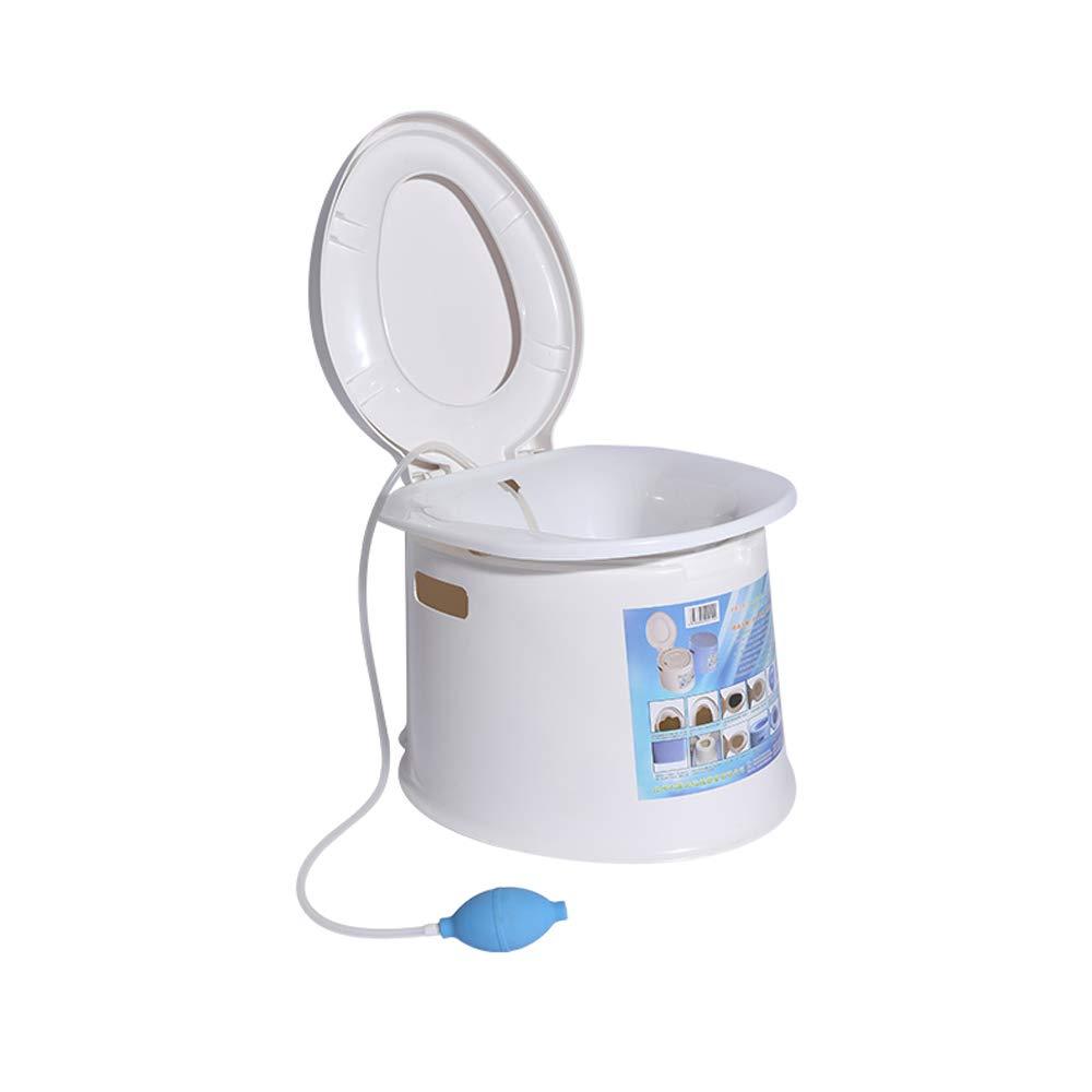 Tragbares Waschendes Hinternbassin, Das Schwangeren Frauen Freie Toilettenspülungstoilette Bewegliche Toilette Anbietet,Weiß