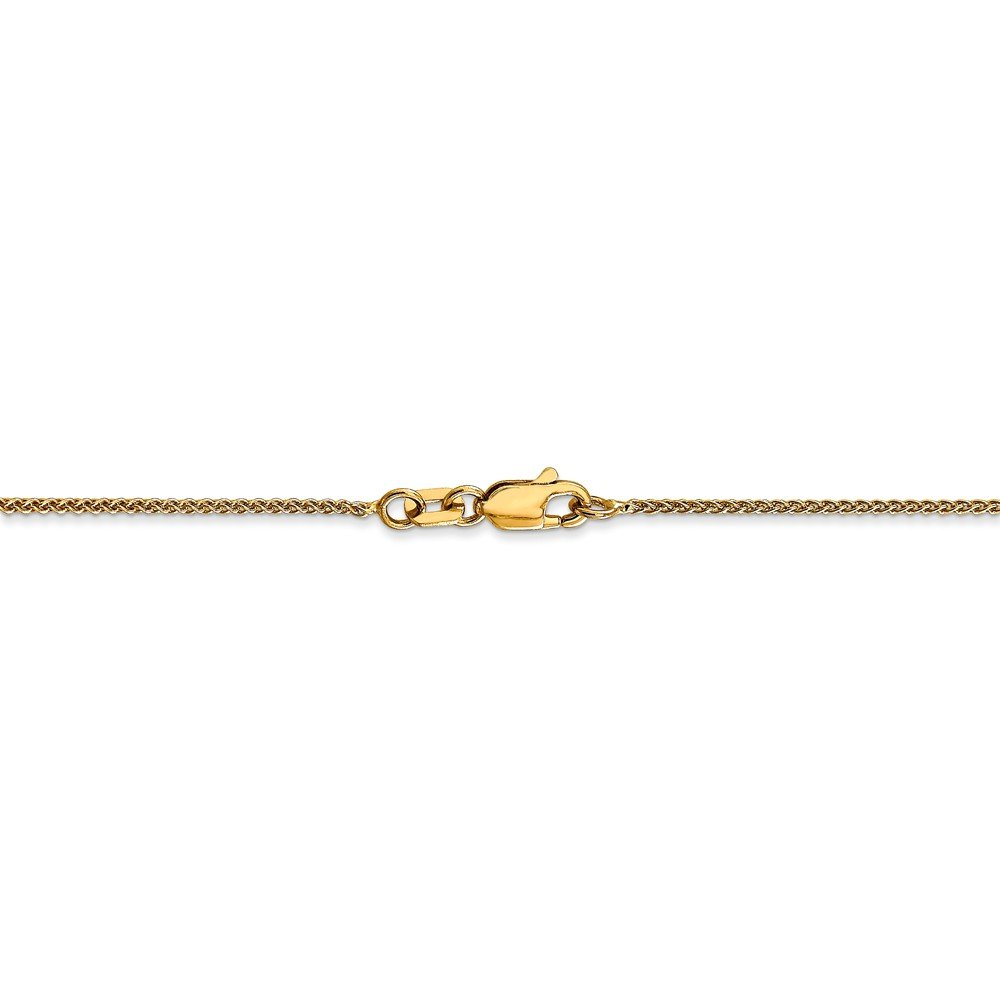 14k Yellow Gold 1mm Spiga Chain Necklace 3.53g Wheat