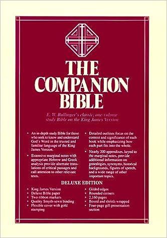 bullingers companion bible e w bullinger 9780825422379 amazoncom books