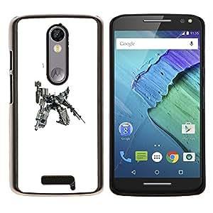"""Be-Star Único Patrón Plástico Duro Fundas Cover Cubre Hard Case Cover Para Motorola Droid Turbo 2 / Moto X Force ( Mech Warrior enorme robot"""" )"""
