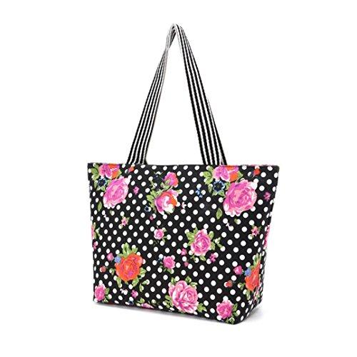 Transer Women Shoulder Bag Popular Girls Hand Bag Ladies Canvas Handbag, Borsa a spalla donna Multicolore Multicolour 44cm(L)*30(H)*13cm(W)