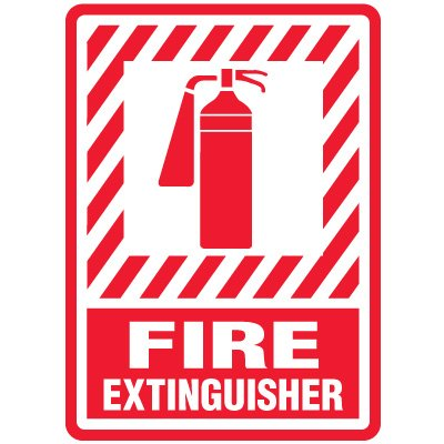 Magnetic Fire Extinguisher Safety Sign - 10