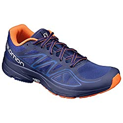 Salomon Men's Sonic Aero-surf The Web Trail Runner, Surf The Webblue Depthsflame, 11.5 M Us