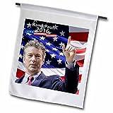 Edmond Hogge Jr – Republican Party – Rand Paul 2016 with American Flag – 18 x 27 inch Garden Flag (fl_214380_2)