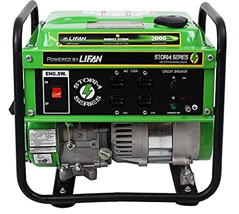Lifan ES2000-CA Energy Storm Portable Generator with Recoil Start, 2000W (Portable 2000w Generator)