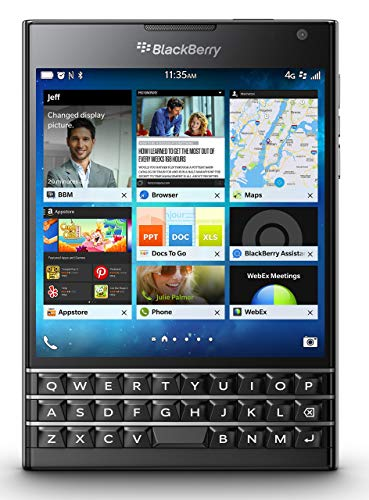 BlackBerry Passport, Black 32GB (AT&T) (Renewed)
