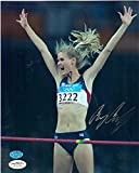 Amy Acuff autographed 8x10 Photo (High Jumper) JSA Image #2 - Autographed Olympic Photos