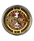 NCAA The University of Wyoming Official Chrome Clock, Multicolor, One Size