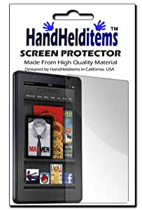 HHI Anti-Fingerprint, Anti-Glare, Matte Finishing Screen Protector For Amazon Kindle Fire Tablet (Package include a HandHelditems Sketch Stylus Pen)