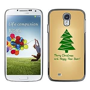 YOYO Slim PC / Aluminium Case Cover Armor Shell Portection //Christmas Holiday Merry Christmas & Happy New Year 1092 //Samsung Galaxy S4