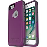 Otterbox COMMUTER SERIES Case for iPhone 8 & iPhone 7 (NOT Plus) - Retail Packaging - PLUM WAY (PLUM HAZE/NIGHT PURPLE)