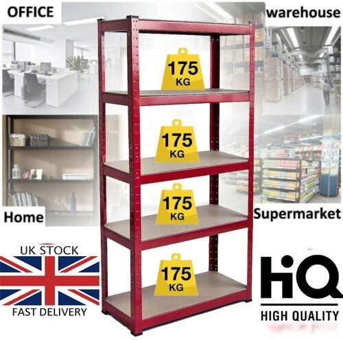 hogar flexible tienda para garaje cobertizo almac/én negro negro 875 kg de capacidad altura ajustable Estanter/ía de metal resistente de 150 x 70 x 30 cm montaje para garaje