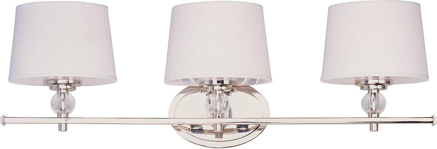 Maxim Wall Sconce in Polished Nickel Finish Contemporary