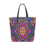 Hippie Psychedelic Tote Bag Purse Handbag Womens Gym Yoga Bags for Girls