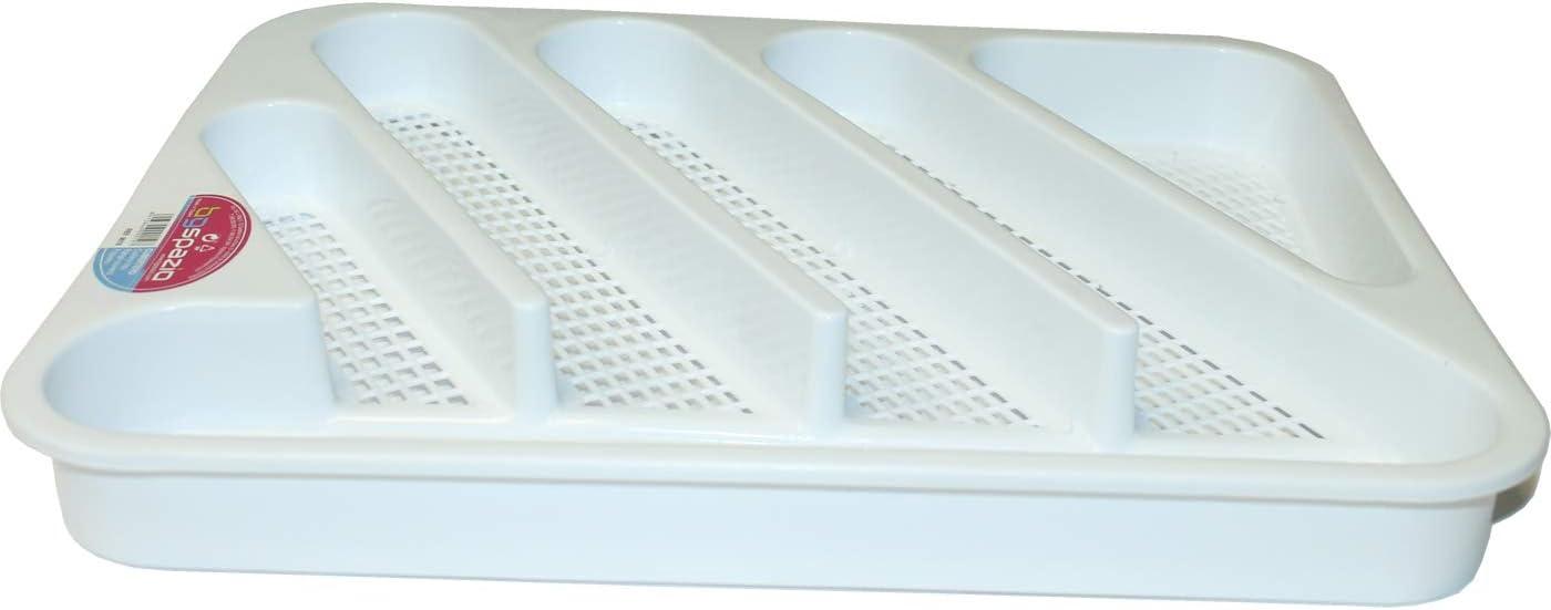 BG Espazio Cubertero pl/ástico blanco 36.5 x 29.5 x 3.5 cm