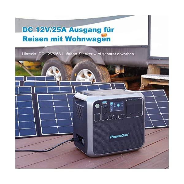 51NPcs05z2L POWEROAK Tragbares Powerstation AC200P 2000Wh 2000W Solargenerator LiFePO4 Batterie mit 230V Steckdose Power Station…