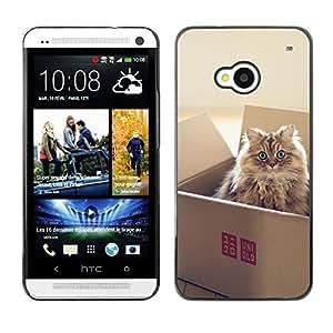 YOYO Slim PC / Aluminium Case Cover Armor Shell Portection //Cute Cat In A Box //HTC One M7