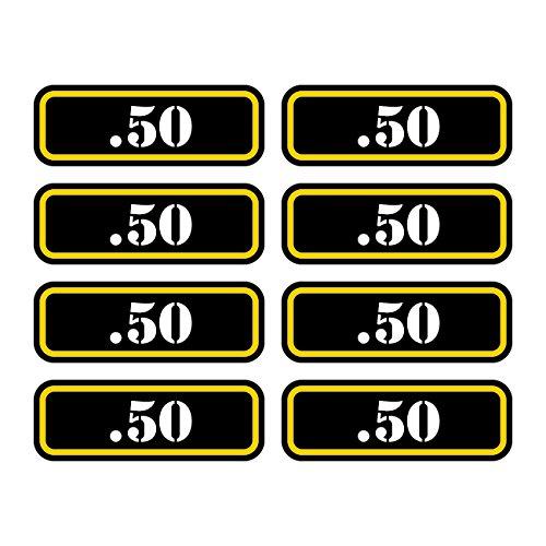 16x .50 Ammo Can Sticker Set Decal Self Adhesive Molon Labe Bullet 50 FA Graphix